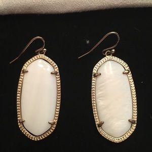 Kendra Scott White drop earrings